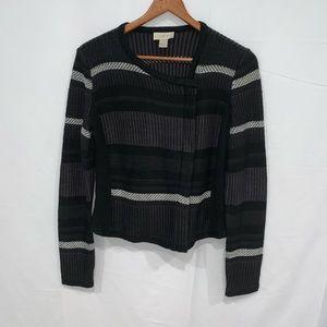 Loft outlet moto full zip up sweater jacket